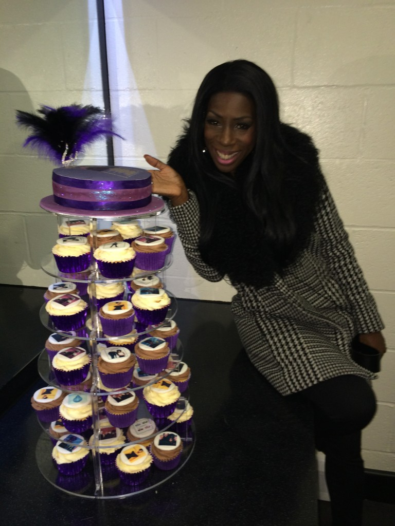 Heather with M People Cakes